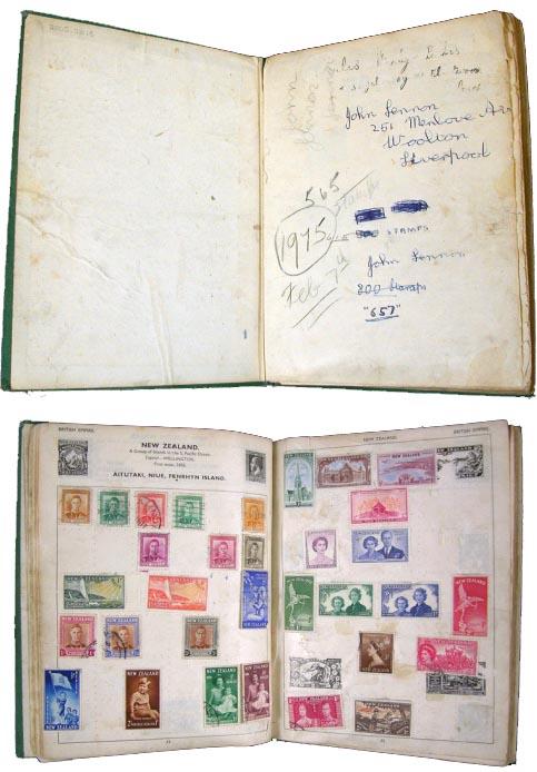 John Lennons stamp album