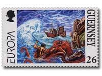 Victor Hugo literature on stamp